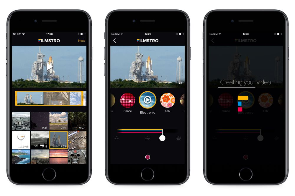 Filmstro iPhone screenshots